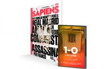 La portada del #nouSÀPIENS i el DVD del documental '1-O'